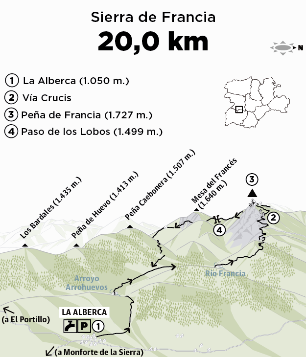 Peña De Francia 1 728 M Senderismo Y Montaña Mendian